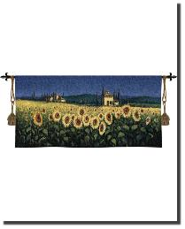Tuscan Panorama Sunflowers by