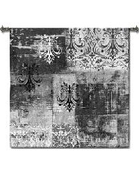 Abstract Damask Brushed Square Wall Tapestry by