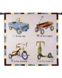 Car Wagon Tricycle Scooter Wall Tapestry by