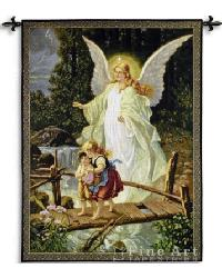 Guardian Angel 1900 Wall Tapestry by