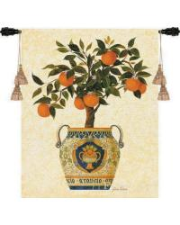 Italian Orange Tree Wall Tapestry by