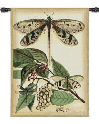 Lt Whimsical Dragonfly I Wall Tapestry by