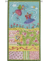 Patchwork Fairy II Wall Tapestry by