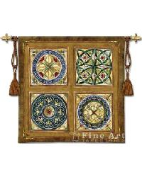 Rosette Wall Tapestry by