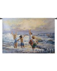 Surf Dancers Wall Tapestry by