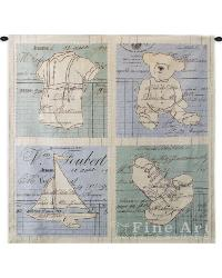 Vintage Boy Wall Tapestry by