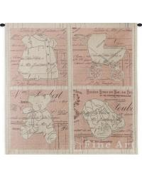 Vintage Girl Wall Tapestry by