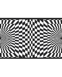 Funky Optics Border Black and White by