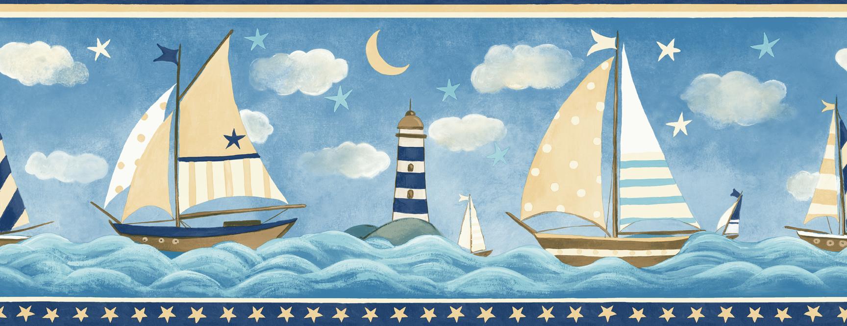 Nautical Wallpaper Borders Wallcovering  Joy Studio