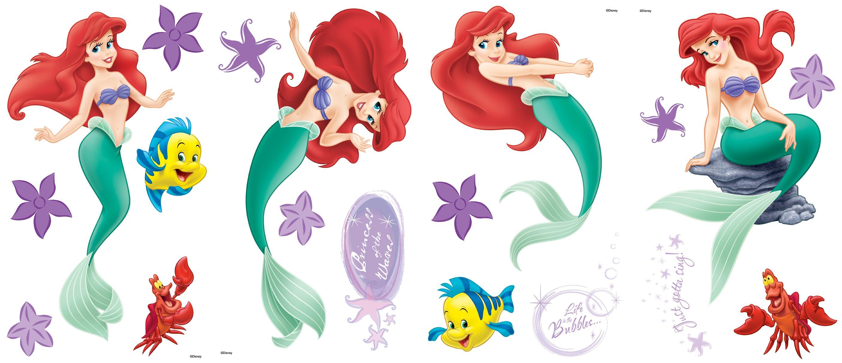 Blue mountain wallpaper little mermaid room appliques - Pose stickers muraux ...