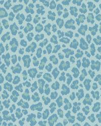 Sassy Aqua Cheetah Wallpaper by
