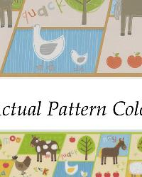 On The Farm Border Beige Patchwork Farm Border by