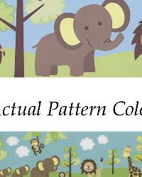 Jungle Friends Border Multicolor Jungle Border by