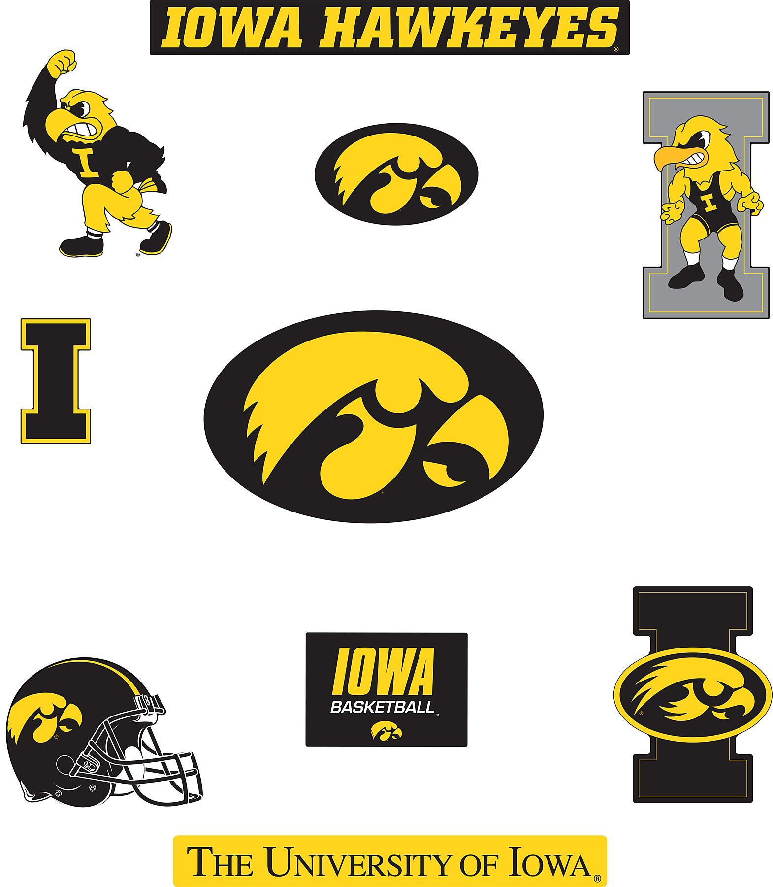 Iowa Logo Hawkeye Iowa Hawkeyes Logo Fathead