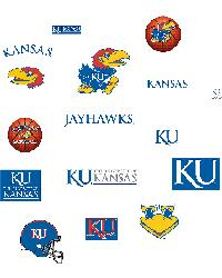 Kansas Jayhawks Logo Fathead Jr by