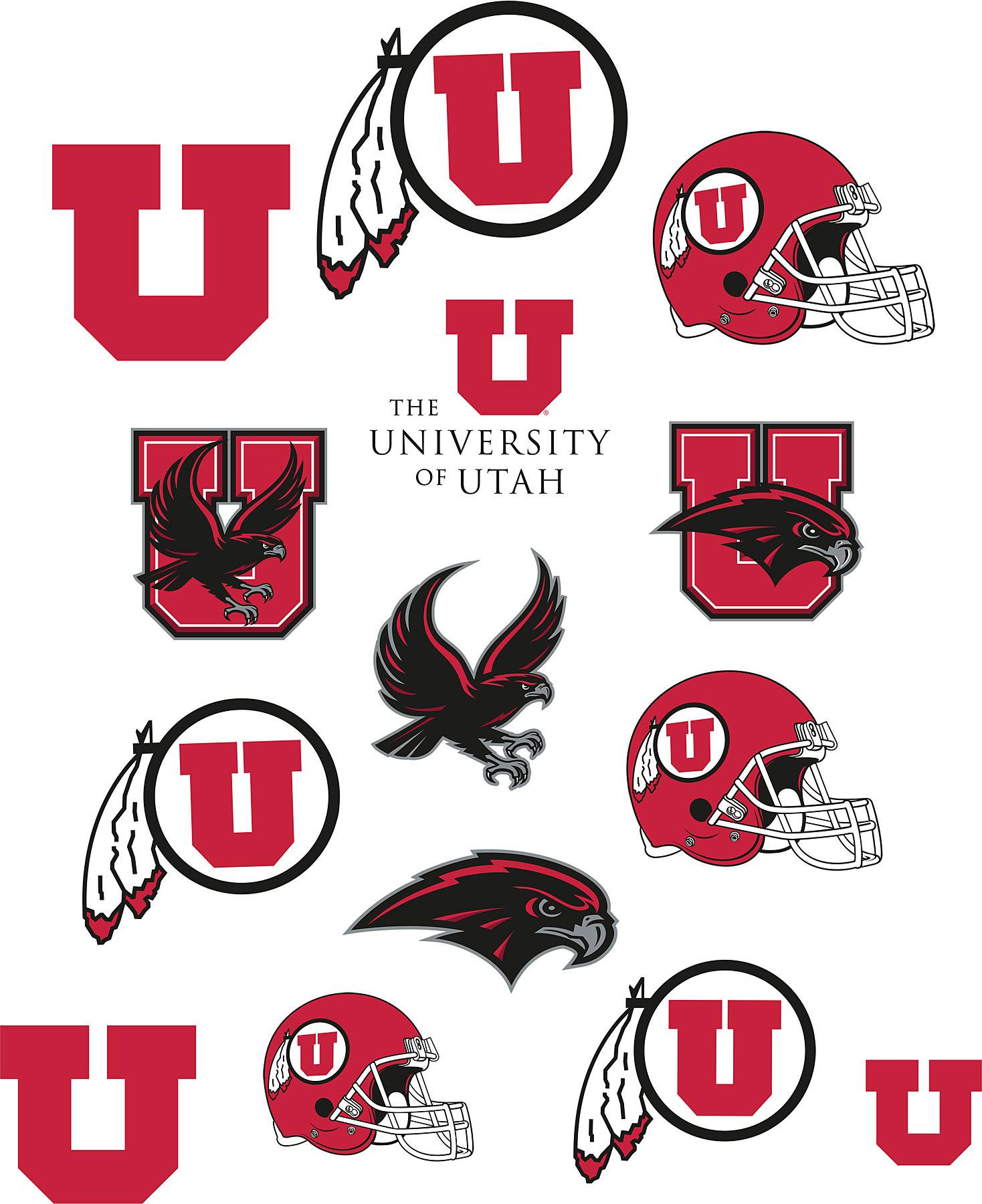 Utah Utes Logo Fathead Jr Brewster Wallcovering - InteriorDecorating