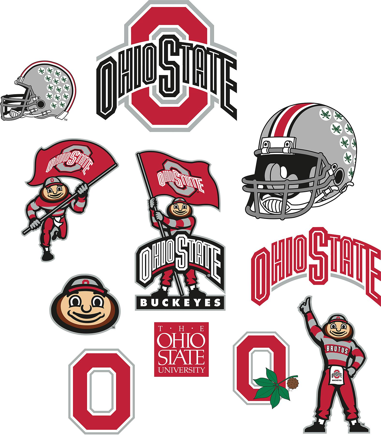 Ohio State Buckeyes Logo Fathead Jr Brewster Wallcovering ...