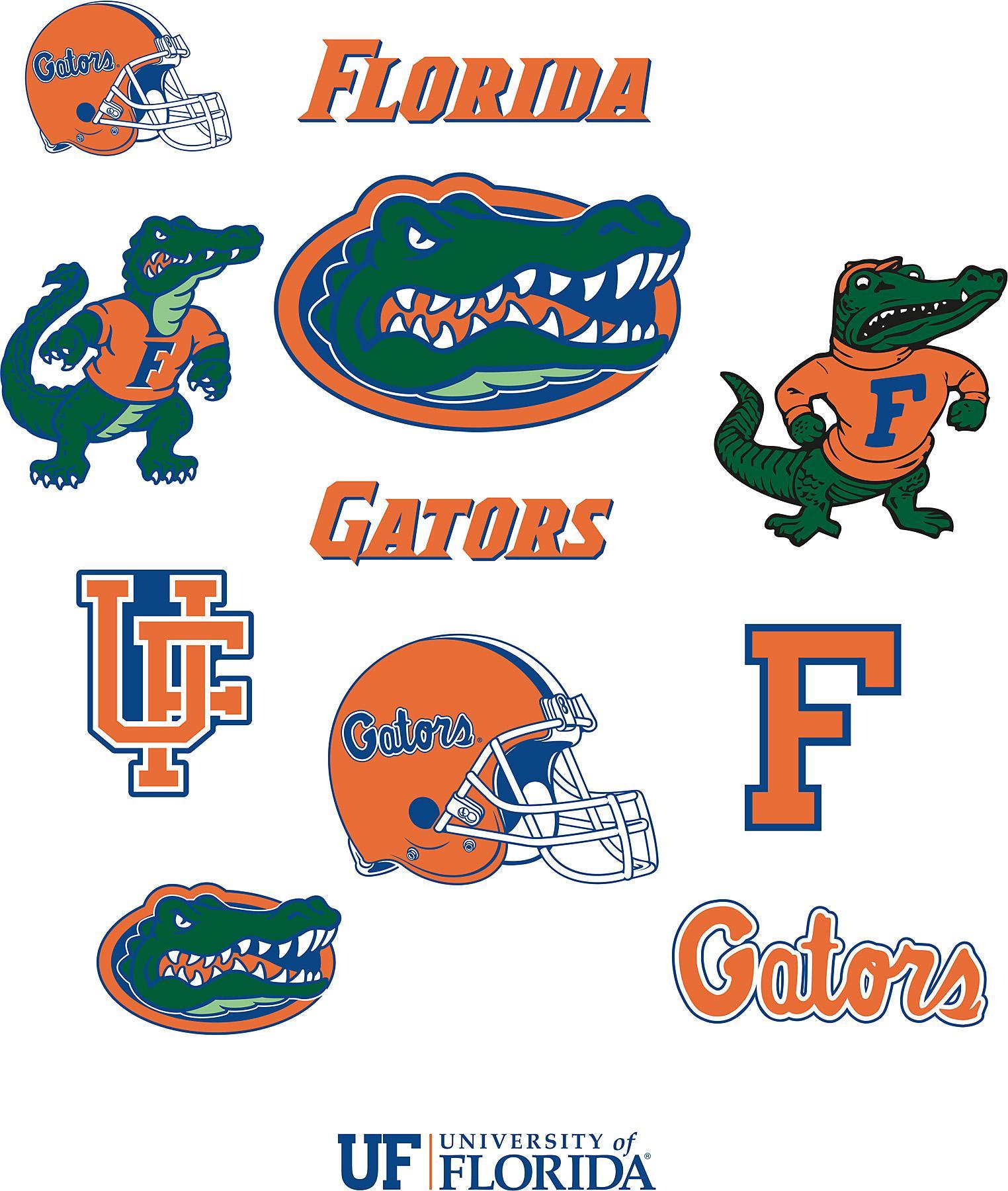 Brewster Wallcovering Florida Gators Logo Fathead Jr Wallpaper