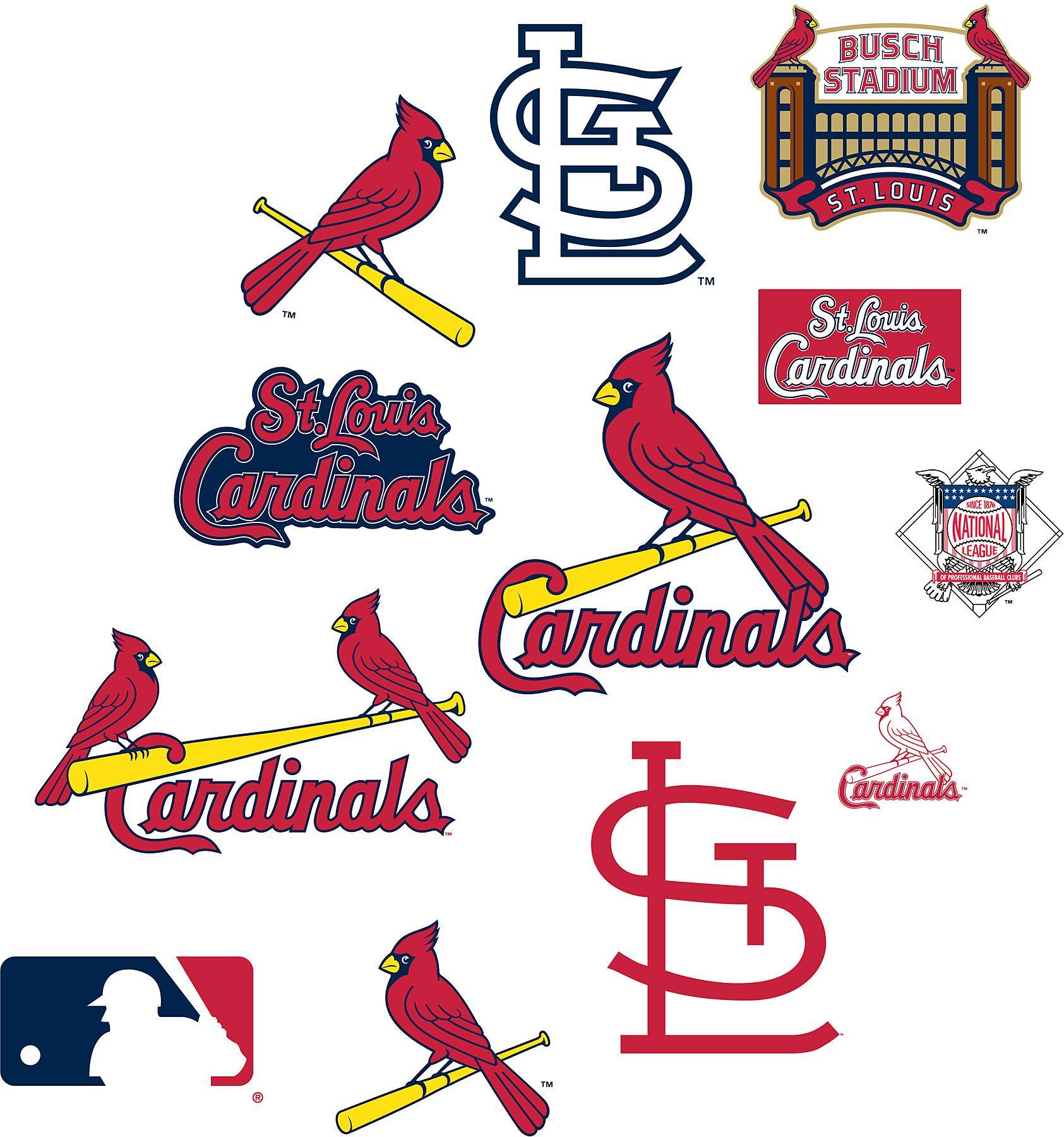 Brewster Wallcovering St Louis Cardinals Logo Fathead Jr Wallpaper