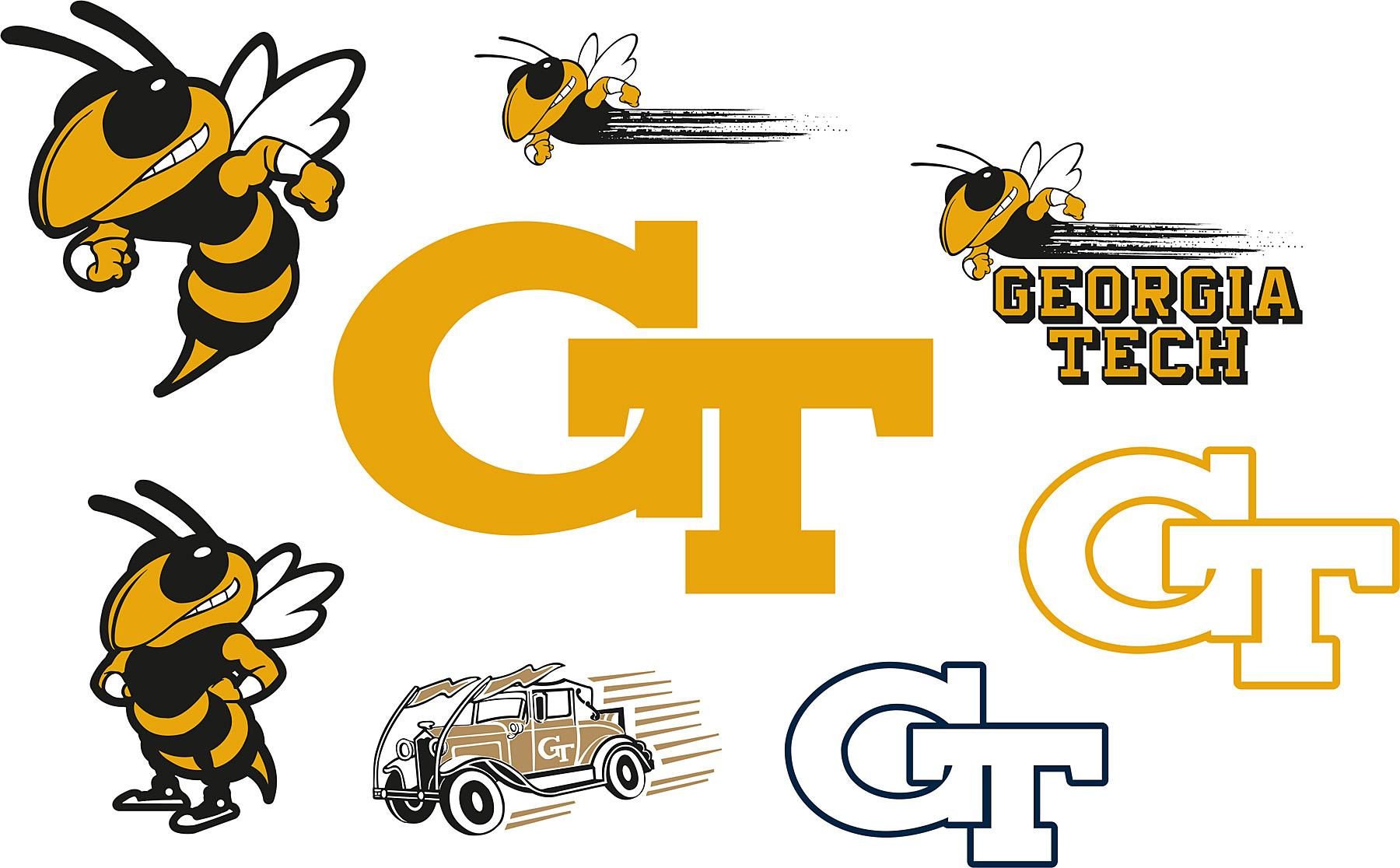 Brewster Wallpaper Georgia Tech Yellow Jackets Logo