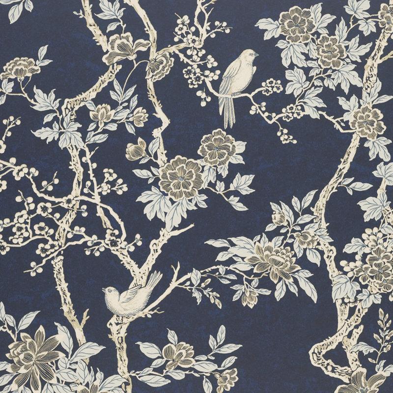 Ralph lauren wallpaper marlowe floral prussian blue - Ralph lauren wallpaper ...