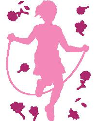 Girl Skipping Rope by