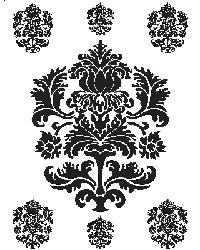 Black and White Damask by