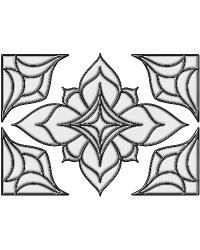 Alden Clear Stained Glass Applique by
