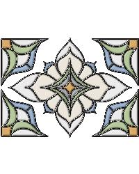 Alden Blue Stained Glass Applique by