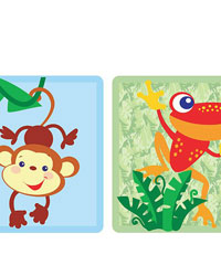 Animals of the Rainforest Wall Border by