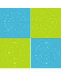 Aqua Lime Circles by