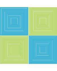 Aqua Lime Squares by