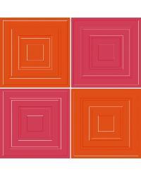 Pink Orange Squares by
