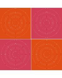 Pink Orange Circles by