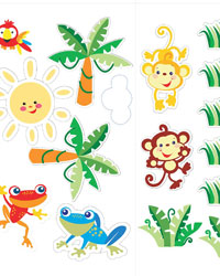 Animals of the Rainforest Appliques by