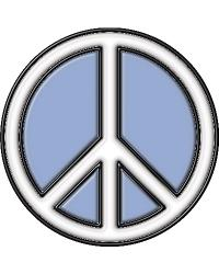 Peace Stained Glass Applique by