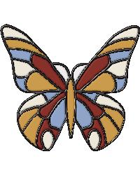 Butterfly Stained Glass Applique by