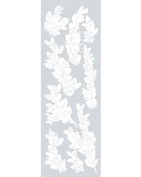 Willow Etched Glass Applique by