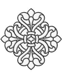 Medici Medallion Clear Stained Glass Applique by