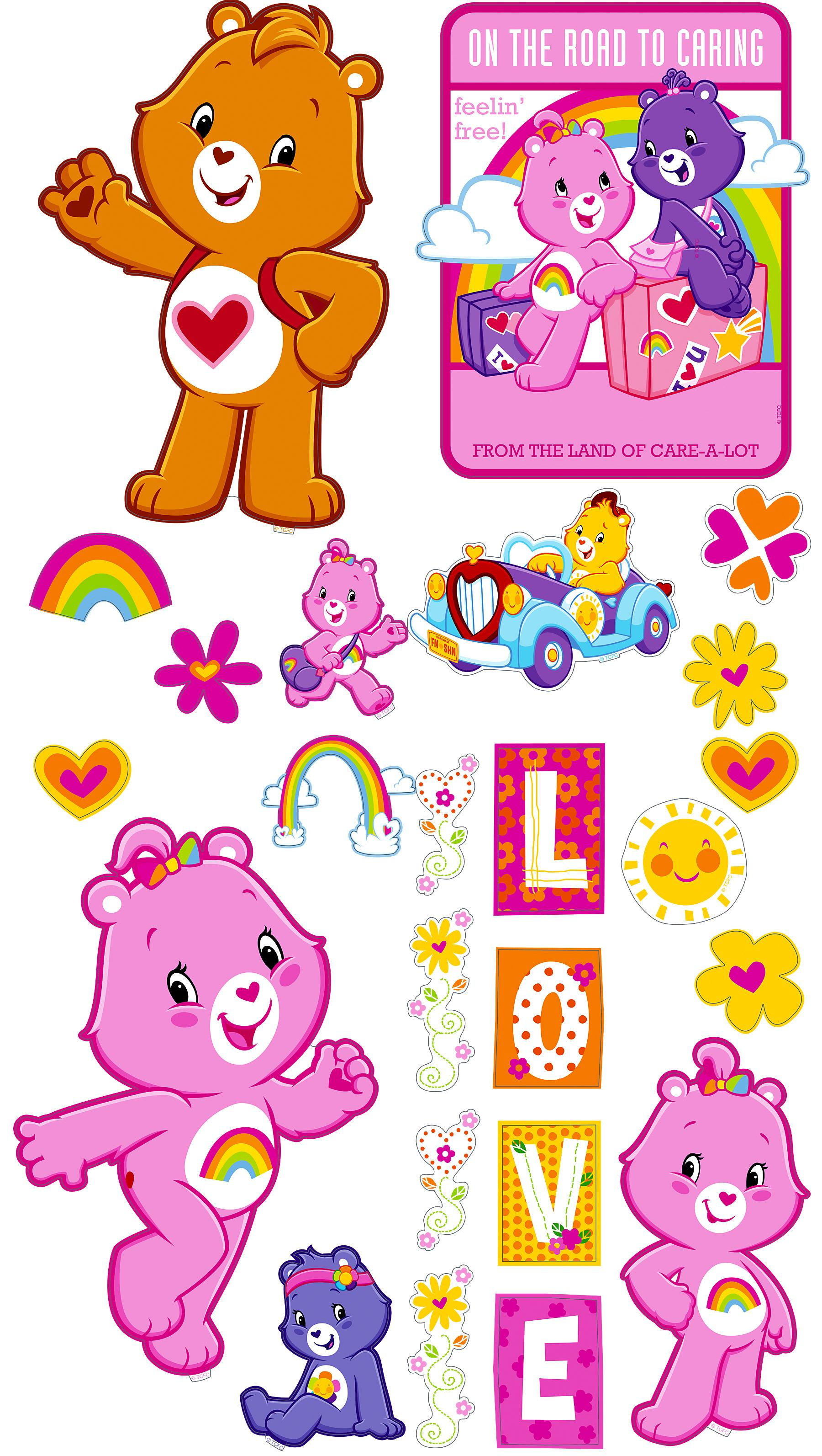 Care Bears Appliques Brewster Wallcovering