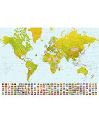 World Map Mural by