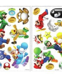 Nintendo - Super MarGio Bros. Wii Peel  Stick Wall Decals by
