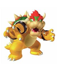 Nintendo - Bowser Peel  Stick Giant Wall Decal by