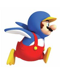 Nintendo - Penguin Mario Peel  Stick Giant Wall Decal 688SLM by