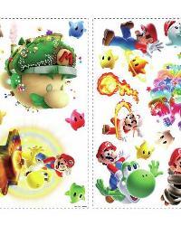Nintendo - Mario Galaxy 2 Peel  Stick Wall Decals by