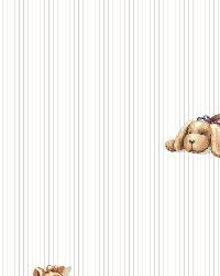 Stuffed Animal Spot Striped Wallpaper by
