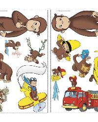 Curious George Peel  Stick Wall Decals by