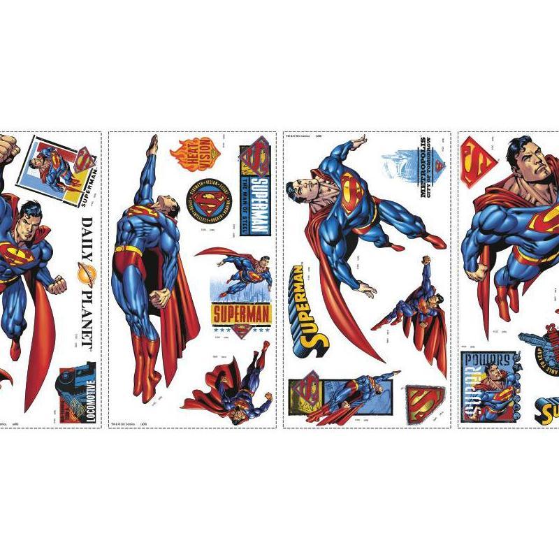 york wallpaper superman wall stickers interiordecorating com