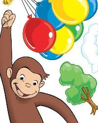 Curious George Peel  Stick Giant Wall Decal  by