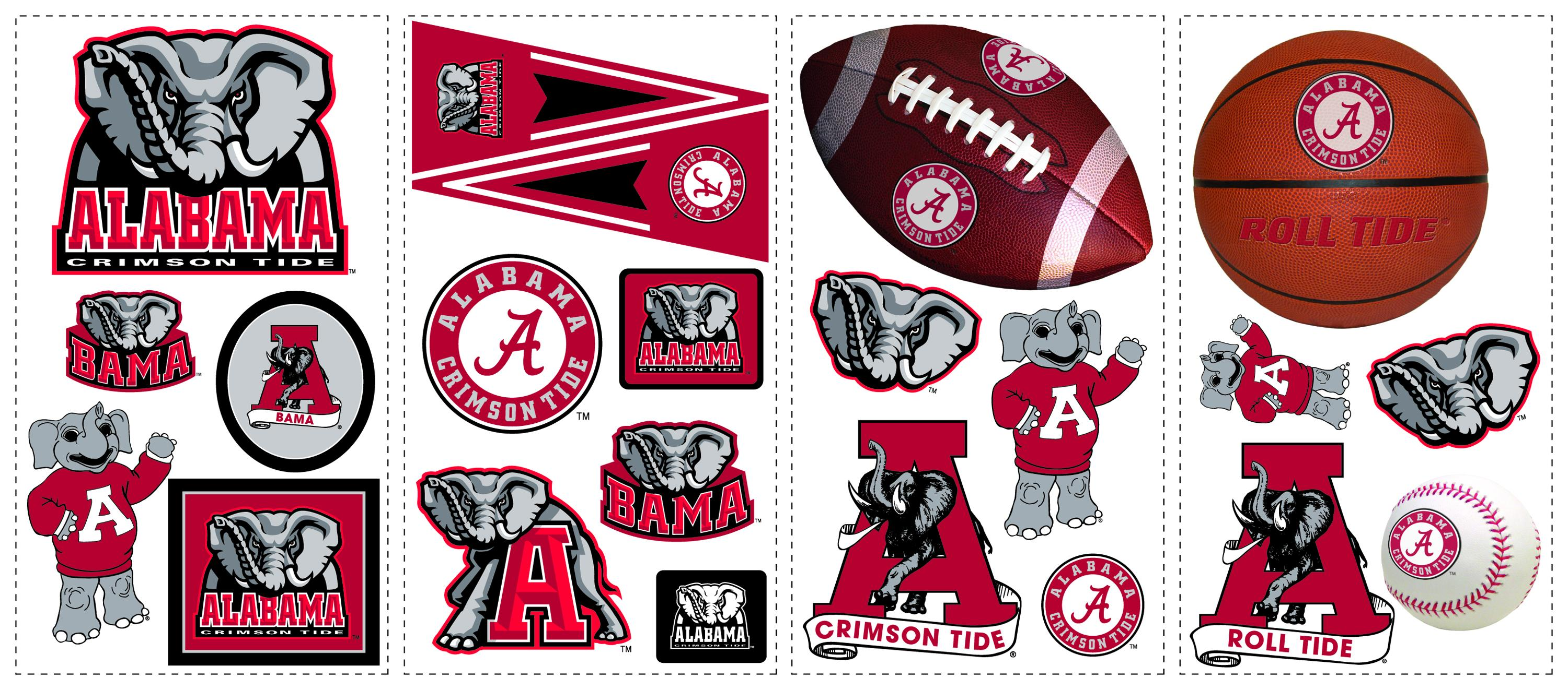 York wallpaper alabama crimson tide wall decals for Alabama football mural